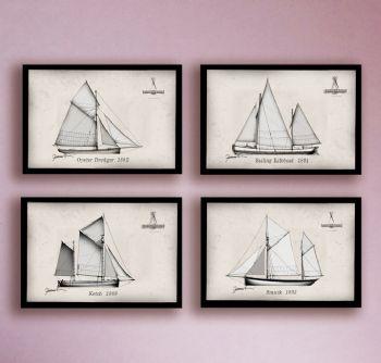 Oyster Dredger, Sailing Lifeboat, Ketch, Smack